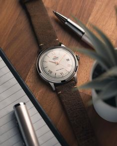Earthy brown hues and details suited best with its polished finish. ⌚: FAC00008W0 Orient Watch, Contemporary Classic, Classic Collection, Stainless Steel Case, Earthy, Design Inspiration, Mood, Watches, Lifestyle