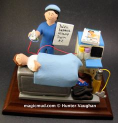 Paediatric Anesthetist Gift  www.magicmud.com    1 800 231 9814    magicmud@magicmud.com $225  Personalized #Medical Gift Figurines, custom created just for you!    Perfect present for all #Doctors, a  heartfelt gift for birthdays, graduations, anniversaries, new office openings, retirement, as a thank you to a great #physician  Surgeon, cardiologist, therapist, nurse, ob-gyno, podiatrist, psychiatrist, nephrologist, urologist, radiologist, any occupation made to to order by #magicmud