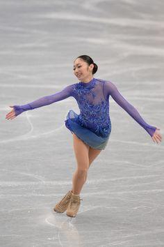 Miki Ando of Japan Ladie's short program  All Japan Figure Skating Championships 2013, Blue Figure Skating / Ice Skating dress inspiration for Sk8 Gr8 Designs.