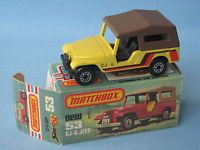 Lesney Matchbox Superfast 53 Jeep CJ6 Jeep Cream Body Rare and Boxed