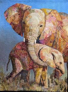 Quilt Festival, Hand Applique, Hand Embroidery, Fabric Art, Fabric Crafts, Group Of Elephants, Quilts Online, Elephant Quilt, Long Arm Quilting Machine