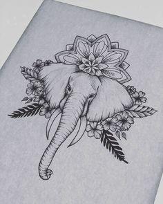 Sleeve Tattoos Elephant Tattoo Ideas – tattoos for women half sleeve Dope Tattoos, Leg Tattoos, Body Art Tattoos, Small Tattoos, Tattoo Thigh, Tattoos Skull, Tatoos, Thigh Piece Tattoos, Upper Thigh Tattoos