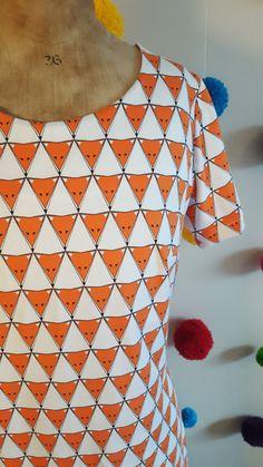 Women's T-shirt dress. Womens T Shirt Dress, Uk Size 16, Fox Print, Size 16 Dresses, Thigh, Organic Cotton, Triangle, Short Sleeve Dresses, Couple