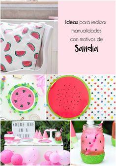 Esta semana, he salido en búsqueda de nuevas ideas divertidas para realizar manualidades y me he inspirado de una de mis frutas favoritas: la sandía.   Colorida, fresca y sabrosa, es la fruta estrella del verano y, con todas estás características tan atractiva, es perfecta para darnos nuevas ideas creativas. watermelon | diy | handmade | doityourself | watermelon party | sandías | pasteque