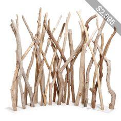 Ash & Elm Corner Driftwood Screen