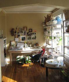 A sweet little ceramic studio of my own please!