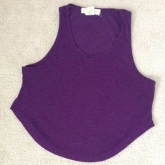 Purple crop top Size: S. Perfect for the summer months! Tops Crop Tops