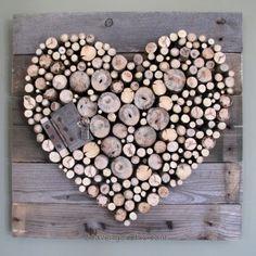 Sticks & Pallet Wood Heart