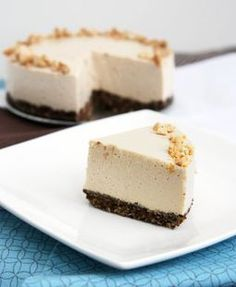 Peanut Butter No-Bake Cheesecake: Gluten Free, Refined Sugar Free, Vegetarian.