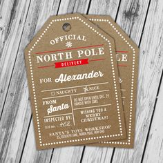 North pole special delivery printable from santa special personalized christmas gift tags christmas printables christmas gift label special delivery from north negle Choice Image