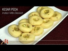 Kesar Peda (Indian Milk Dessert) - Manjula's Kitchen - Indian Vegetarian Recipes milk powder heavy whipping cream