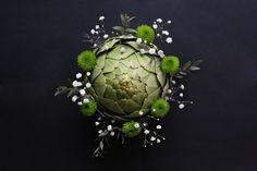 Artichoke and flowers