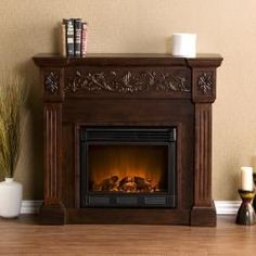 Tennyson Bookcase Electric Fireplace | Electric fireplaces