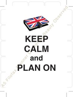 2 Filofax A5 Planner Dividers Keep Calm and Plan by BeautyObserved, $1.25