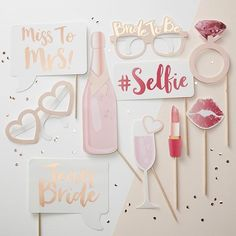 WEBSTA @ favorlanepartyboutique - MISS TO MRS   ❤️ Hey #bridestobe it's #selfie  time and we've got the perfect #partyprops to get you started! Shop via the link in our bio.#bachelorette #teambride #misstomrs #selfietime #photoprops #photobooth #hensnight #hensparty #bridalshower