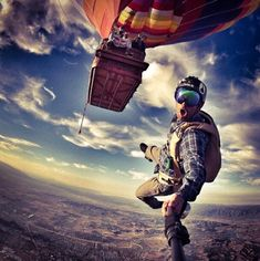 Hot Air Balloon and Skydiving! Trekking, Jogging, Base Jumping, Paragliding, Skydiving, Greatest Adventure, Travel Goals, Travel Plane, Extreme Sports
