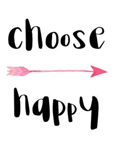 Choose Happy printable digital download by BlossomBloomDesign http://howtobehappy.guru/step-1-how-to-be-happy-in-7-steps-happiness-is-a-choice-our-choice/