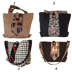 Suit and tie recycled handbags!