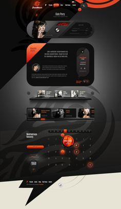 [웹디자인]독특한 레이아웃의 Fenix Music 웹사이트 디자인 : 네이버 블로그