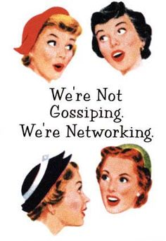 We're networking.