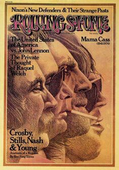 Rolling Stone Cover of Crosby, Still, Nash & Young (illustration)