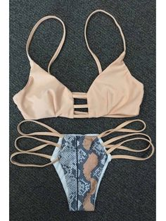 SHARE & Get it FREE | Snakeskin Print Strappy Bikini SetFor Fashion Lovers only:80,000+ Items • New Arrivals Daily Join Zaful: Get YOUR $50 NOW!