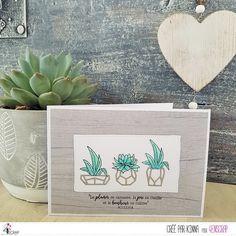 "Kinna : Tampons & matrices de coupe (dies) #4enscrap ""Vamos a la playa"" Mini Albums, Tampons, Scrapbooking, Planter Pots, Jolie Photo, Inspiration, Floral, Cards, Roses"