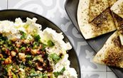 Tasty Tuesday · Olive, Mint and Hazelnut Labneh with Za'tar Pita Gourmet Recipes, Vegetarian Recipes, Healthy Recipes, Eid Recipes, Healthy Meals, Healthy Food, The Design Files, Design Blog, Bread Appetizers