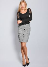 Black & White Button Front Skirt by...       $12.00