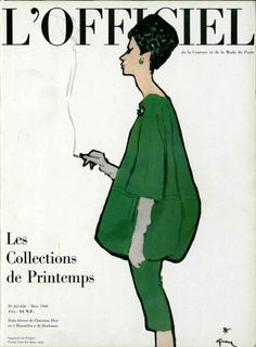 L'Officiel cover by rené Gruau, 1960