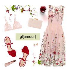 Pink Floral Dress by magdafunk on Polyvore featuring La Perla, Alexandre Birman, Kayu, Tory Burch, Lancer Dermatology and Chloé