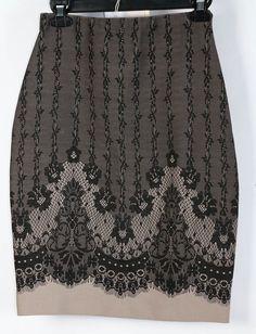Joseph Ribkoff Lace Printed Bandage Straight Pencil Skirt 2 #JosephRibkoff #StraightPencil #Casual
