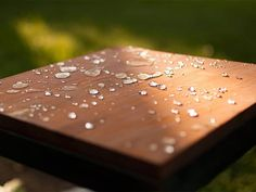 Blogger Challenge: Make It Superhydrophobic!: See here and in Dan's video how #NeverWet makes water bead up on a wood surface. From DIYnetwork.com