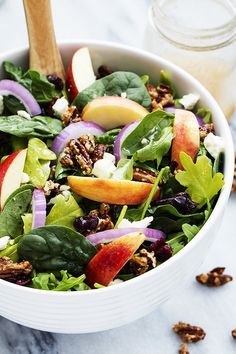 Apple Pecan Salad with a Maple Vinaigrette | Community Post: 18 Deliciously Filling Salads Guaranteed To Make You Hungry