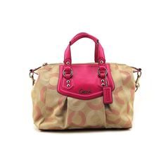 Coach Ashley Dotted OP Satchel hand bag F20027. Satan Fabric With Leather Trim. Remuveble Leather Soulder Belt. Zip Top Closure. Interier Poly. Lined With Zip Pocket. Coach Box Included.