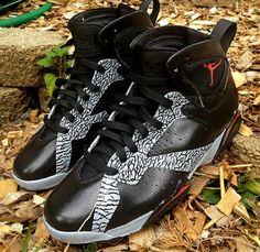 76ceeffb1d5 Big Boys Shoe Air Jordan VII Black Cement Grey Air Jordan 3, Air Jordan  Future