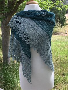 An edging with a large eyelet like this to show the other layer behindl Ravelry: Headlands pattern by Rosemary (Romi) Hill