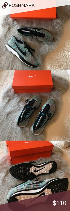 Nike Multi Color Flyknit Racer Trainer Nike Multi Color Flyknit Racer Trainer  -Still brand new! Worn once to Disneyland -Size 10.5 (will also fit a size 10) *will double box when shipped -Ship from Los Angeles, CA -Ship same or next business day -NO pricing discussions on comments below, ONLY submit offer!  Tags Supreme Box Logo Shirt Hoodie Bape Chanel Louis Vuitton Vintage Tee Shirt  LV Wallet Card Style Accessories Gucci Snake Belt Travel Passport Common Projects Goyard Duffle Bag…