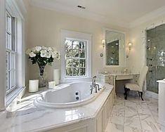 25 White Bathroom Ideas Design Pictures Designing Idea with White Master Bathroom Design Ideas White Master Bathroom, Luxury Master Bathrooms, Bathroom Design Luxury, Modern Bathroom, Bathroom Ideas, White Bathrooms, Classic Bathroom, Bathroom Designs, Bath Ideas