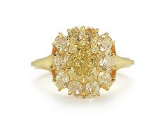 Fancy Intense Yellow Diamond Berry Cluster Ring, 18Kt Yellow Gold | McTeigue & McClelland