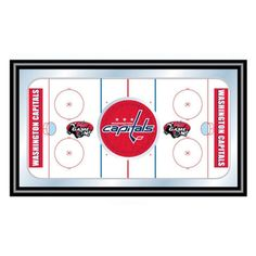 Trademark Global NHL Washington Capitals Framed Hockey Rink Mirror - NHL1500-WC