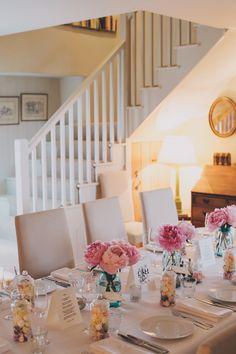Intimate wedding, tablescape, pink wedding inspiration, small wedding