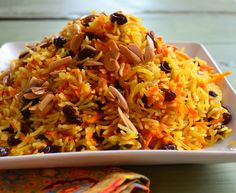 Sweet Basmati Rice with carrots & raisins - vegan, Rosh Hashanah I used Brown Basmati Rice, only 1/2 tsp salt and 2 1/2 c water and cooked on manual in Instant Pot. I soaked raisins in water and added to rice after it was cooked.