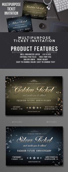 Polygon event ticket Invitation Templates $600 Invitation - ticket invitation template
