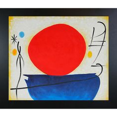 Found it at Wayfair - Ohne Titel (The Red Sun) Canvas Art by Joan Miro Surrealism - X Gaudi, Miro Artist, Modern Art Paintings, Happy Art, Collage, Abstract Expressionism, Love Art, Unique Art, Les Oeuvres