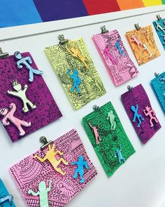 I finally hung grade's Keith Haring inspired collages. We made the figures pop off the background using tiny squares of foam core board! Middle School Art, Art School, Keith Haring Art, Classe D'art, Artist Project, 6th Grade Art, School Art Projects, Art Lessons Elementary, Art Lesson Plans