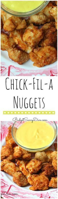 Copy Cat Chick Fil A Nuggets from Budget Savvy Diva and other great family friendly dinner recipes! Copy Cat Chick Fil A Nuggets from Budget Savvy Diva and other great family friendly dinner recipes! Copycat Recipes, New Recipes, Dinner Recipes, Cooking Recipes, Favorite Recipes, Healthy Recipes, Family Recipes, Recipies, Fondue Recipes