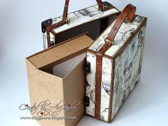 Vintage Style Suitcase with Mini Album Tutorial, Part 2 ~ Making the Drawer Album - YouTube