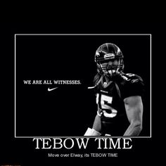 No I'm not jumping on the band wagon. I have always loved me some tebow. That is all.