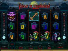 Spilleautomaten Alaxe In Zombieland - I spilleautomaten Alaxe In Zombieland får vi en alternativ og morbid vri på den kjente fortellingen om Alice In Wonderland. Alle de kjente skapningene fra filmen har blitt omgjort til zombier og vi følger den mørke Alaxe i sin kamp mot monstrene. Spilleautomater Alaxe in Zombie på - http://www.spilleautomater-online.com/spill/spilleautomaten-alaxe-in-zombieland